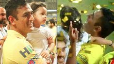 MS Dhoni leaves IPL title celebrations to hold daughter Ziva in arms CSK vs SRH IPL 2018 Final Chennai Super Kings Hyderabad Test Cricket, Cricket News, Ms Dhoni Wife, Ziva Dhoni, World Cricket, Chennai Super Kings, Day Wishes, Always And Forever, Hyderabad