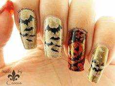 Water Spotted Halloween Mani with YouTube Tutorial #nails #nailart #nailstamping