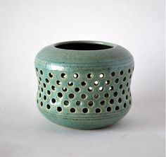 Candleholder (stoneware, electric-fired)