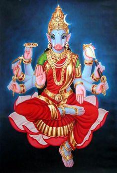 Darshan of Goddess Varahi Amman in Lord Murugan Durga Kali, Saraswati Goddess, Mother Goddess, Goddess Lakshmi, Shiva Shakti, Indian Goddess, Lord Murugan, Lord Shiva Painting, Divine Mother