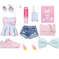 ♡~Summer~girly~pretty~♡ by charlottesomers on Polyvore featuring polyvore fashion style Design Inverso Full Tilt Essie Maybelline
