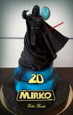 Splendid Darth Vader Cake made by Dolce Favola