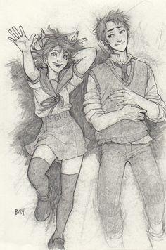 Haruhi Suzemiya & Kyon | by Burdge | The Melancholy of Haruhi Suzemiya | Anime