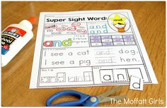 How to Effectively Teach Sight Words For Preschool, Kindergarten, 1st Grade, 2nd Grade and 3rd Grade using a fun hands-on and systematic approach. Created with Fry's Sight Words and Dolch Sight Words!