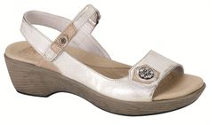 Naot Women's Reserve from the Vineyard Collection in Metal! #Naot #Reserve #Sandals #SpringBling