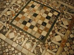 Floor at St. Marks Cathedral in Venice, Italy.