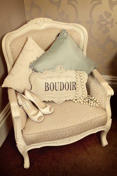 I want my bedroom to look old-Hollywood glam with a few French accents.