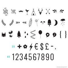 numbers & symbols black set