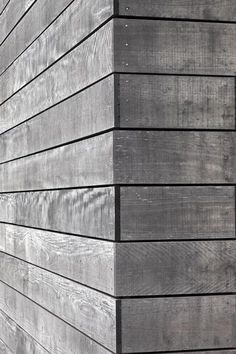 Timber cladding 'silvering' over time Detail joint - Mountain Landing Lodge : Cheshire Architects House Cladding, Timber Cladding, Cladding Ideas, Wood Cladding Exterior, Wood Architecture, Architecture Details, External Cladding, Wooden Facade, Wood Joints