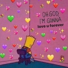 Once you love someone you love them forever - - - - for more cute memes xox - - - - Cartoon Memes, Funny Memes, Cartoon Pics, Stupid Memes, Sapo Meme, Heart Meme, Heart Emoji, Cute Love Memes, Pretty Meme