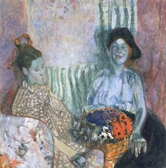 'Two Women with a Basket of Flowers', 1915 - Frances Hodgkins