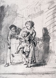 Rembrandt Harmenszoon van Rijn all_drawings Rembrandt Etchings, Rembrandt Drawings, Rembrandt Art, Drawn Art, Baroque Art, Dutch Painters, Dutch Artists, Art Sketchbook, Painting & Drawing