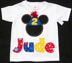 Mickey Mouse TSHIRT with name and age. Mickeys clubhouse party.. $24.00, via Etsy.