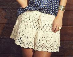 Saia clara em crochê - com gráfico - Croche.com.br