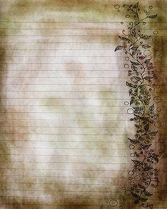 Vitigni stampabile foglie marrone e verde foderato pagina di giornale, 8x10 JPG Download Scrapbook Paper, File digitale, arte digitale