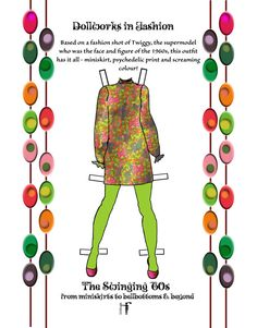 The Swinging 60s paper doll book of vintage by FlyingMagpie