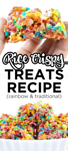 Rice Crispy Treats Recipe. This recipe for rice crispy treats is the best. They are soft and gooey and the perfect consistency for rice crispy treats. This is the best for both rainbow rice crispy treats as well as traditional rice crispy treats. Rainbow Rice Crispy Treats Recipe, Rice Krispie Treats, Rice Krispies, Birthday Party Treats, Party Snacks, Rainbow Desserts, Rice Recipes For Dinner, Pinterest Recipes, Pinterest Food