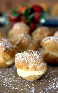 This easy Bavarian Cream Puff recipe is a keeper. The classic cream puffs turn out every time, and are filled with an easy Bavarian cream knockoff recipe. So good! #Creampuff #recipe #realfood #homemade