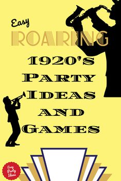 From Gatsby to Jazz to Silent Films, the provides endless inspiration for parties! Celebrate the Roaring Twenties our way for a one-of-a-kind easy party ideas. Roaring Twenties Party, Roaring 20s Theme, Prohibition Party, Speakeasy Party, 1920s Party Decorations, Dinner Party Games, Nye Party, Princess Party Games, Great Gatsby Themed Party