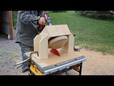 Turning a wooden bowl on a Table Saw! INCREDIBLE! - YouTube