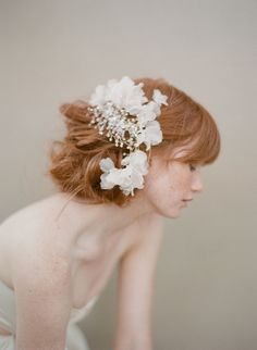 Bridal crystal headpiece comb  Fluttering crystal by myrakim, $360.00