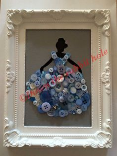 Hand painted canvas Button and bead detail Choice of any princess Canvas size 7x5 Made to order, please allow up to three weeks
