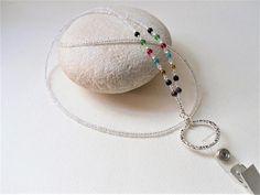 Crystal Beaded Lanyard/Healing Stones/7 Chakra ID