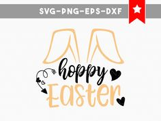 hoppy easter svg, easter svg, bunny svg, commercial use, easter bunny svg, svg files for silhouette, svg files for cricut, svg files easter by PersonalEpiphany on Etsy