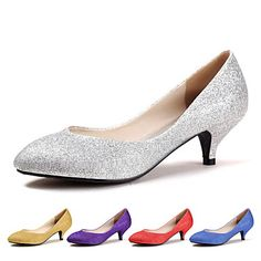 Women's Shoes Pointed Toe Kitten Heel Wedding Shoes More Colors available – USD $ 24.99