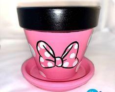 Painted Plant Pots, Terracotta Plant Pots, Painted Flower Pots, Mouse Crafts, Daycare Crafts, Clay Pot Crafts, Miniature Fairy Gardens, Terra Cotta, Clay Pots