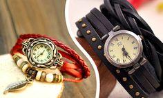 Dámské kožené hodinky   Sleva hodinek