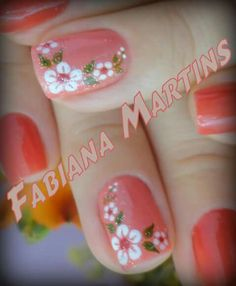 Daisy Nails, Flower Nails, Manicure Nail Designs, Manicure And Pedicure, Nails Now, Toe Nails, Cute Spring Nails, Summer Nails, Colorful Nail Designs