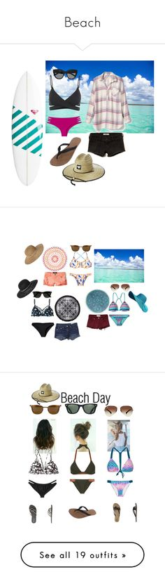 """Beach"" by shayshayv ❤ liked on Polyvore featuring L*Space, Issa de' mar, Quiksilver, Hollister Co., Gap, Volcom, Roxy, Le Specs, beach and Despi"