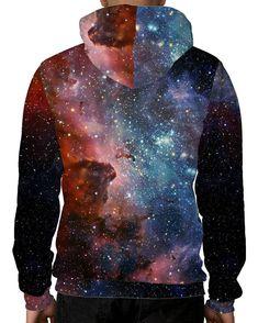 Milky Way Unisex Hoodie-men's back