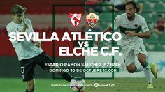 Sevilla Atlético vs Elche C.F.  Estadio Ramón Sánchez Pizjuán Domingo 30 a las 12:00  @Elche #9ine