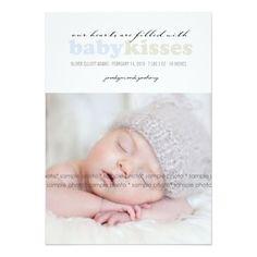 Baby's First Valentine Photo Birth Announcement Custom Invitation