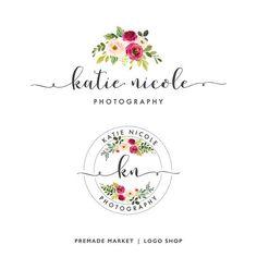 Floral Logo Package Logo Design Photography Logo Logo