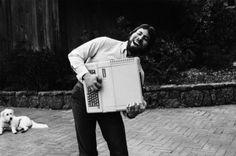 Steve Wozniak with an Apple II, 1983