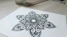 You are in the right place about mandala art on canvas Here we offer you the most beautiful pictures about th Mandala Doodle, Easy Mandala Drawing, Simple Mandala, Mandala Art Lesson, Doodle Art Drawing, Mandala Artwork, Zen Doodle, Henna Mandala, Art Drawings