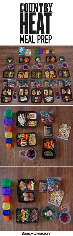 Turn up the heat in the kitchen with this Country Heat meal prep! Made for the 1,800–2,099 calorie level, it will help you eat clean and healthy foods all week long. We even included a step-by-step guide to help you make it as quickly as possible! // meal plans // meal planning // country heat // autumn calabrese // eat healthy // healthy recipes // Beachbody // BeachbodyBlog.com