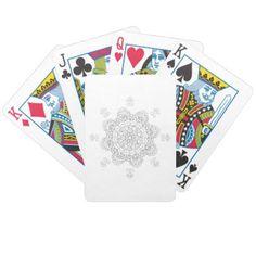 Mandala. Round black and white oriental pattern. Bicycle Playing Cards - home decor design art diy cyo custom