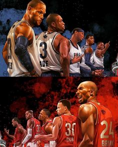 """East or West tonight? . ⚡️art by @hyper_three #consciousbasketball #nbaallstar…"