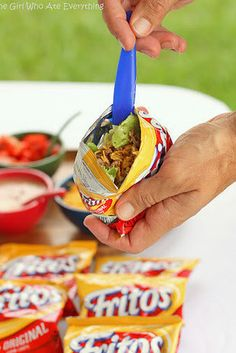 Avoid doing the dishes with some tacos in a bag. | 22 Camping Food Hacks That Are Totally Brilliant