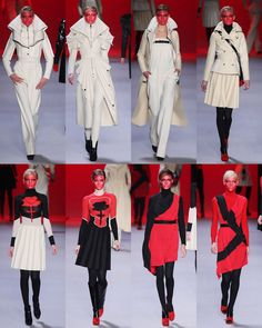 Viktor & Rolf Fall 2011 collection... Love all the black and red dresses.  Want.