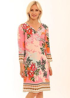 Pomodoro Jasmine Tunic Dress Floral Tops, Floral Prints, Dresses For Less, Jasmine, Fashion Dresses, Tunic Tops, Sleeves, Cotton, Beautiful