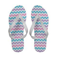 Flipflop Sandals: Pink, Lilac, Aqua Chevrons: #flipflops - http://www.zazzle.com/flipflop_sandals_pink_lilac_aqua_chevrons-256141075216114414?rf=238041988035411422