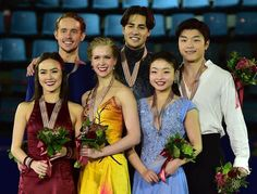 Dance medalists at Four Continents 2015