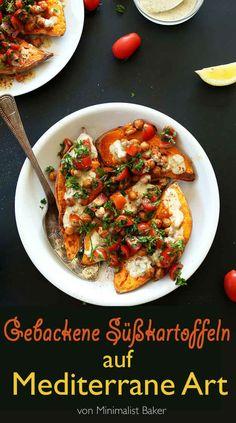 Gebackene Süßkartoffeln auf Mediterrane Art