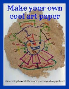 Discovering The World Through My Sons Eyes: Earth Day Craft: Make Your Own Cool Art Paper