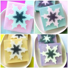 Soap Gift Set - THE SNOWFLAKE Collection - Snowflake Soaps - Christmas Soaps - 4 Big Soap Bars ready to Gift - Winter  - Holiday Soaps - NEW. $26.00, via Etsy.